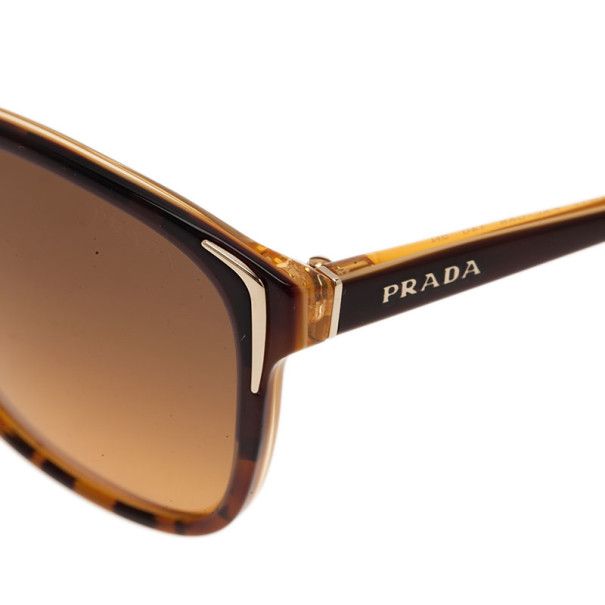 Prada Tortoise Frame SPR01O Cat Eye Sunglasses