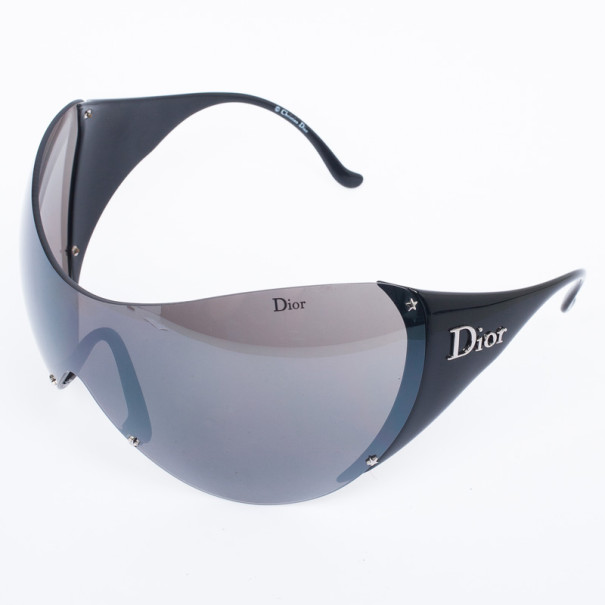 Christian Dior Black Ski 1 Shield Wrap Womens Sunglasses