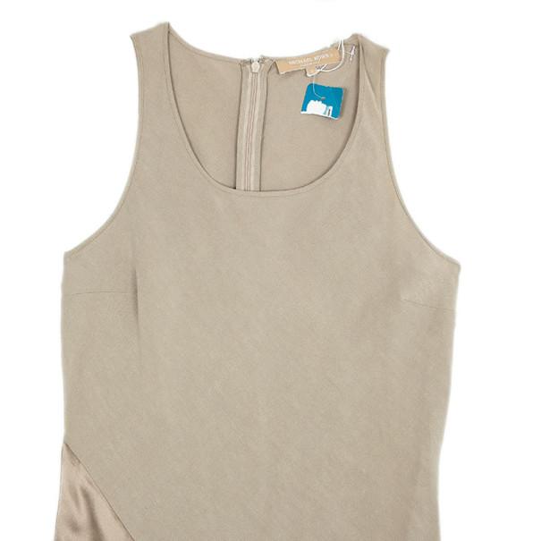 Michael Kors Resort 2010 Linen Silk Maxi Dress M