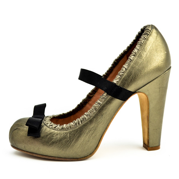Marc by Marc Jacobs Metallic Bow Pumps Size 38.5