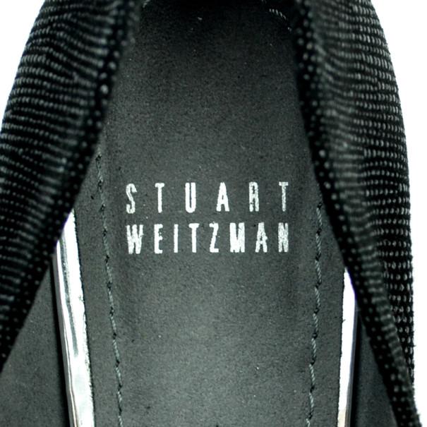 Stuart Weitzman Black Solar Goosebump Pumps Size 38.5