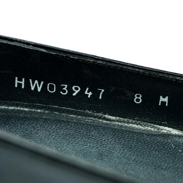 Stuart Weitzman Black Patent Aniline Wedges Pumps Size 38.5