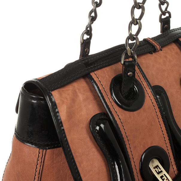 Fendi Brown Leather B Bag