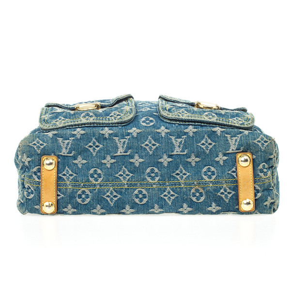 Louis Vuitton Blue Denim Monogram Baggy GM Bag