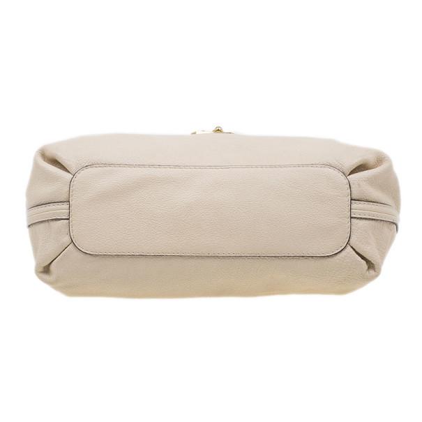 Chloe Beige Leather Elsie Medium Shoulder Bag