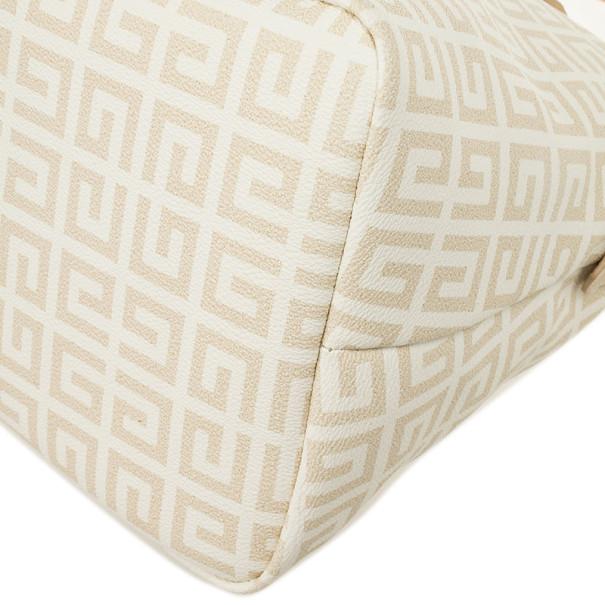 Givenchy Beige and White Monogram Shoulder Bag