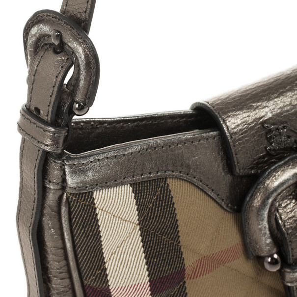 Burberry Quilted House Check Sophie Small Shoulder Bag