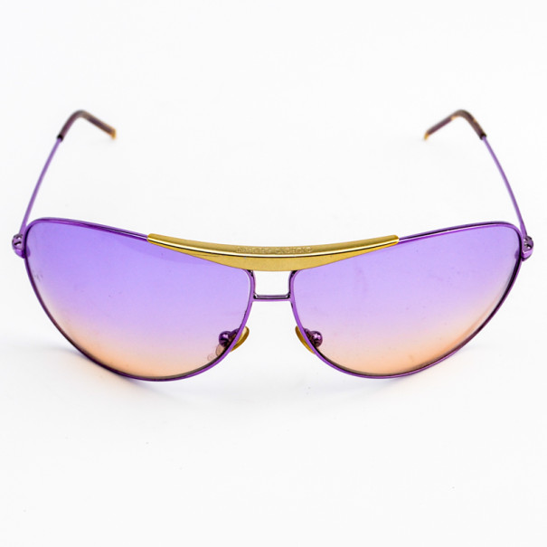 Giorgio Armani Purple Shield Woman Aviators