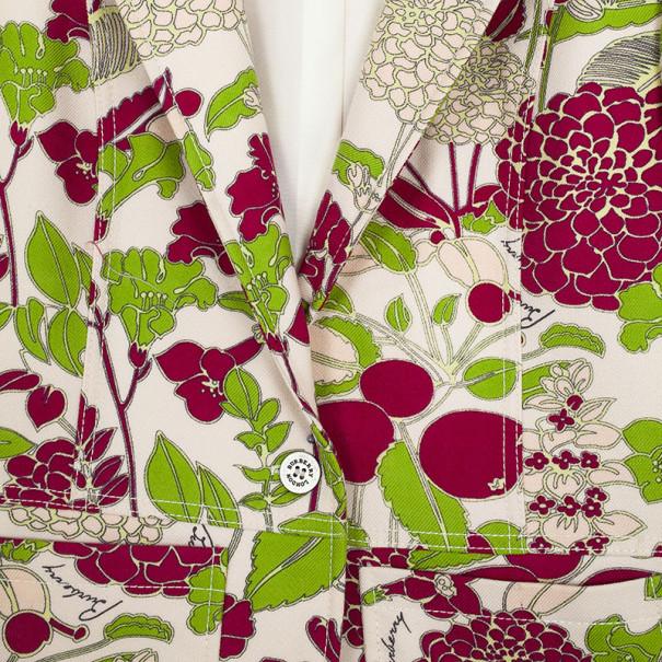 Burberry Floral Printed Wool Blazer L