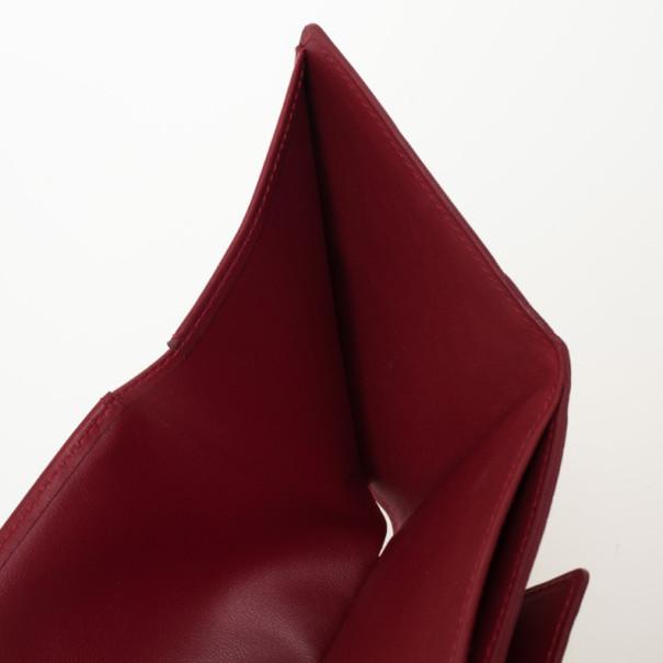 Louis Vuitton Red Monogram Vernis Elise Wallet