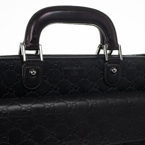 Gucci Guccissima Briefcase with Laptop Compartment