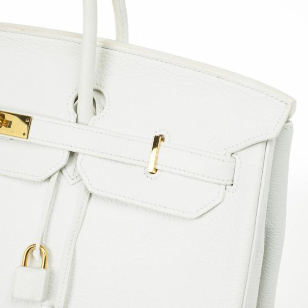 Hermes Blanc Togo Calfskin Gold Hardware Birkin 40