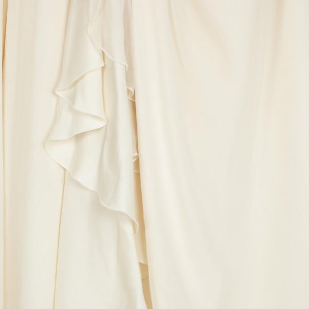 Roberto Cavalli Crystal Embellished Offshoulder Gown M