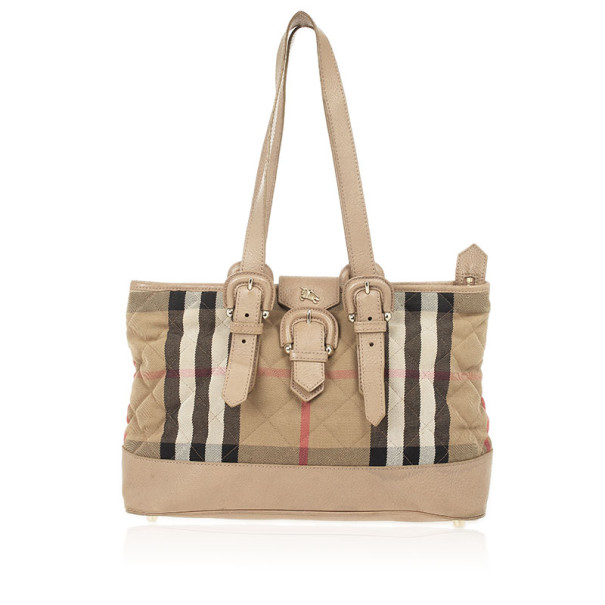Burberry House Check Quilted Fabric Tote
