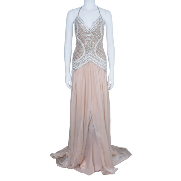 Temperley London Blush Embellished Gown M