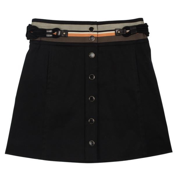 Gucci Signature Stitched Belt Skirt S