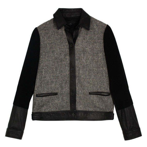 Alexander Wang Wool & Leather Jacket S