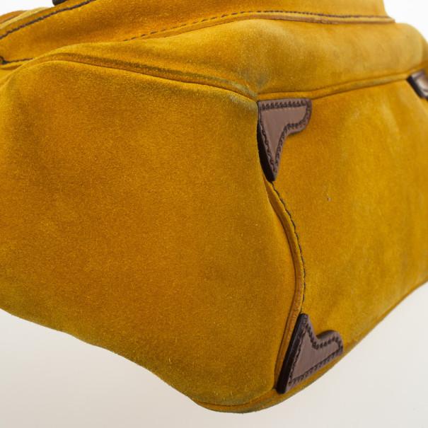 Prada Suede Leather Shoulder Bag