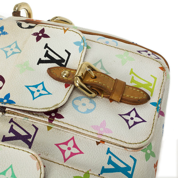 Louis Vuitton Monogram Multicolor White Lodge PM
