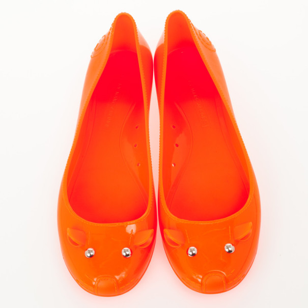 Marc by Marc Jacobs Orange Jelly Mouse Ballet Flats Size 40