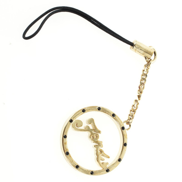 Fendi Gold Phone Charm