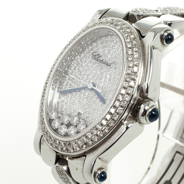 Chopard Happy Sport SS Diamond Womens Wristwatch 34 MM