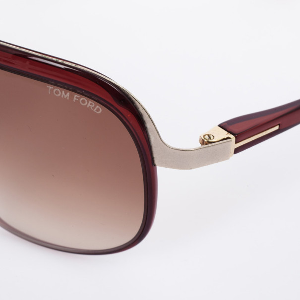 Tom Ford Maroon Andre Shield Women Sunglasses