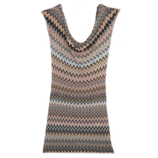 Missoni Mini Metallic Crochet Dress M