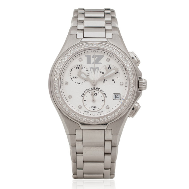 TechnoMarine TNMC Diamond Chronograph Unisex Wristwatch 44 MM