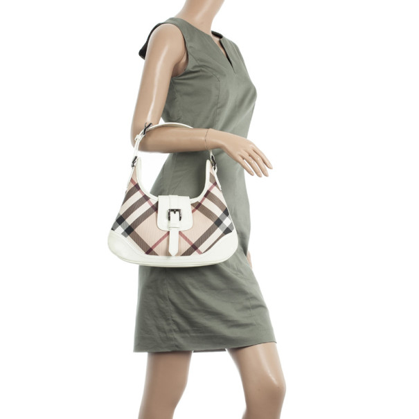 Burberry Nova Check Mini 'Brooke' Hobo Handbag
