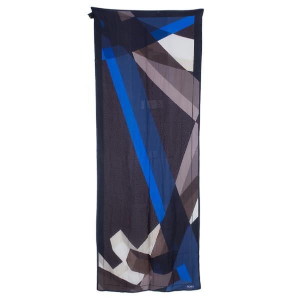 Fendi Brown Silk Scarf