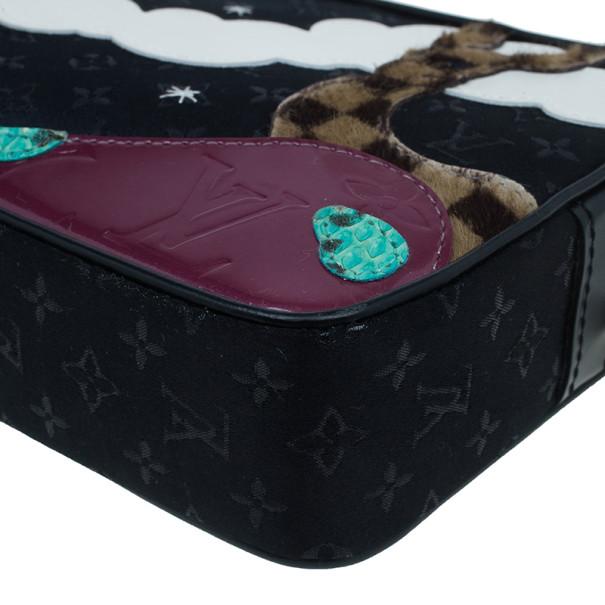 Louis Vuitton Black Suede Giraffe Conte De Fees Pochette