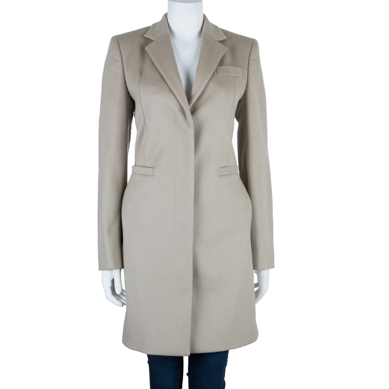 Gucci Beige Wool Long Coat M