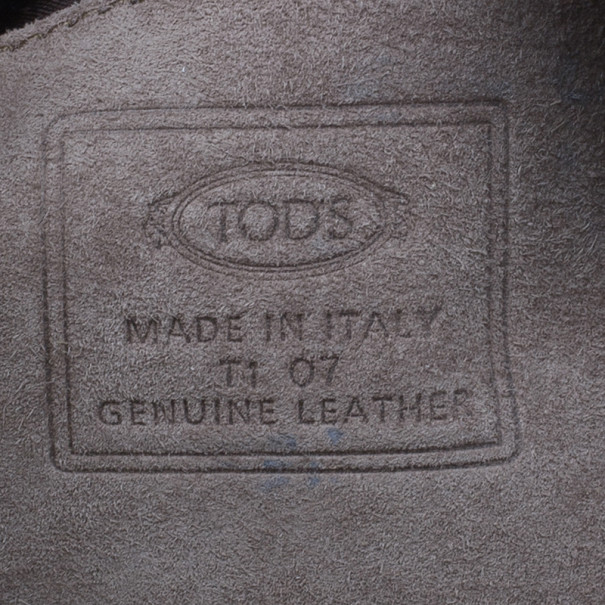 Tod's Grey Suede Box Bag