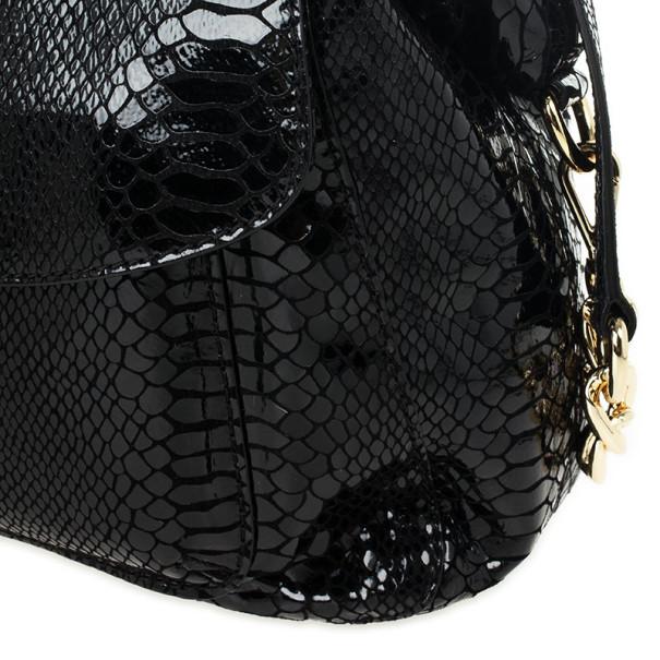 MICHAEL Michael Kors Black Python Embossed Fulton Satchel