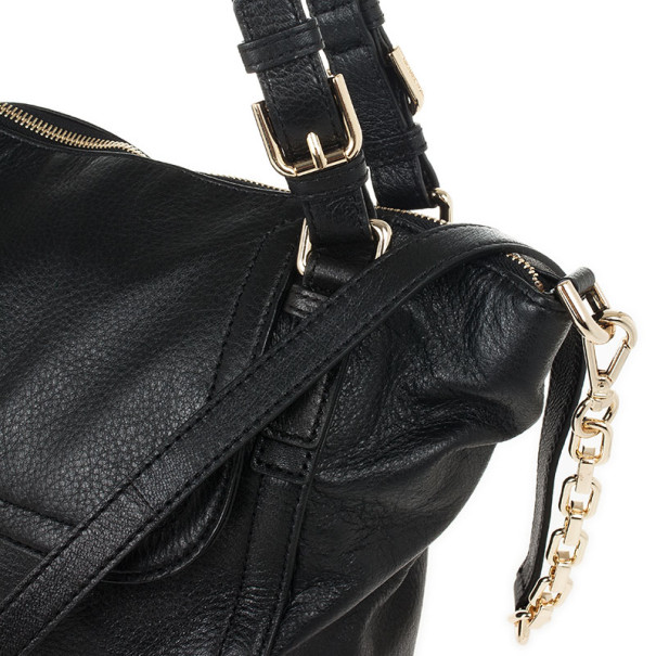 MICHAEL Michael Kors Black Leather Deneuve Satchel