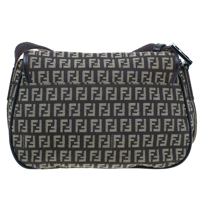 Fendi Brown Zucchino Crossbody Bag