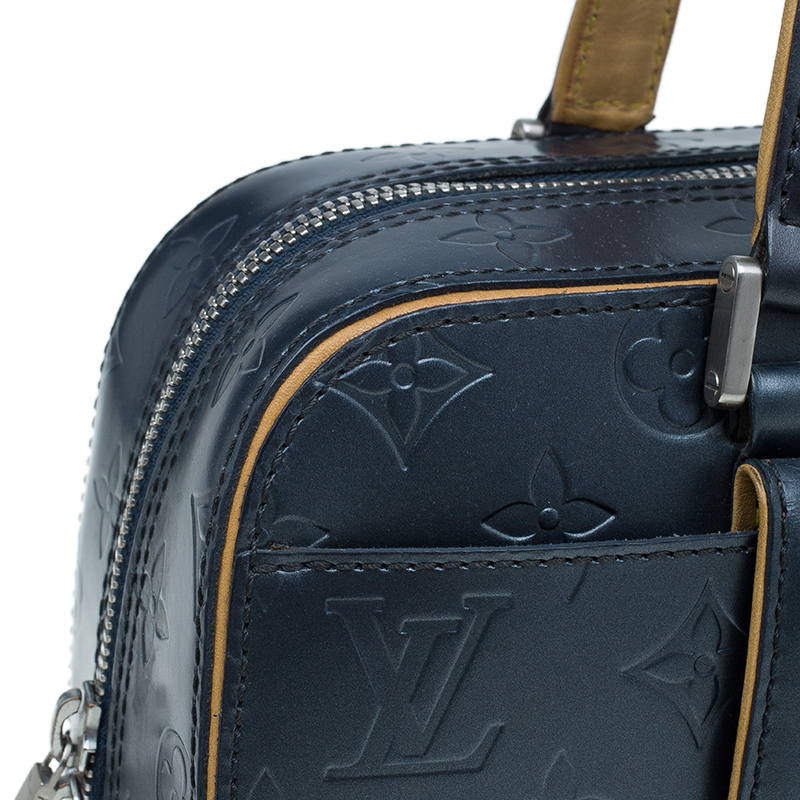 Louis Vuitton Dark Grey Monogram Mat Shelton Satchel Bag