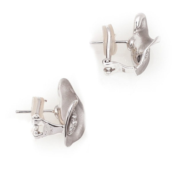Annamaria Camilli Calla Diamond White Gold Earrings