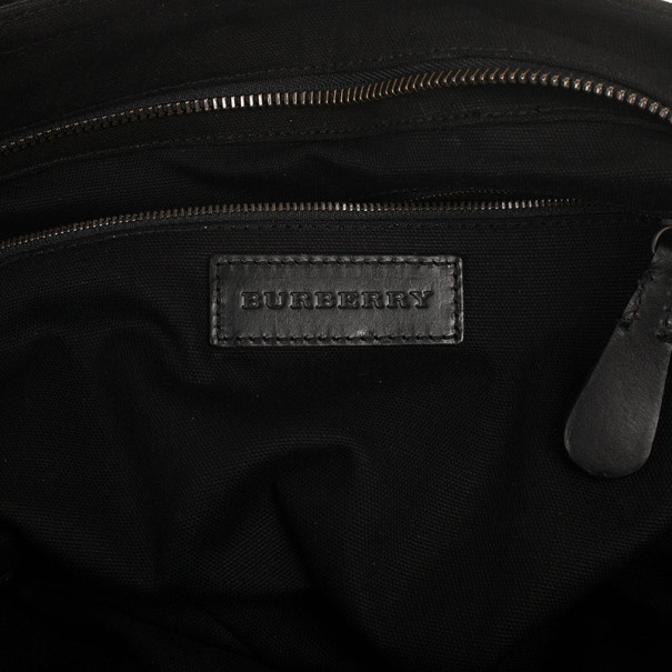 Burberry Brit Black Canvas and Leather Medium Chadwick Tote Bag