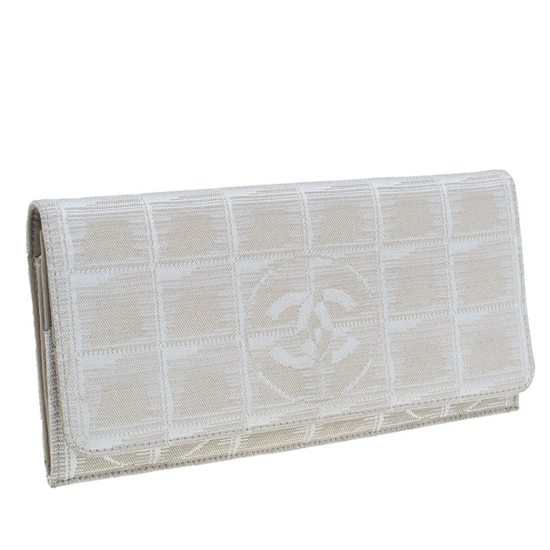 Chanel Beige Travel Line Continental Wallet