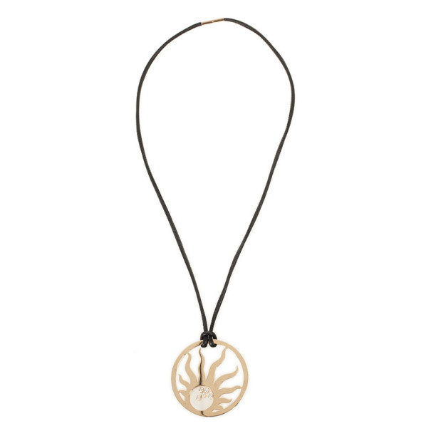 Chopard 18 K Rose Gold Happy Sun Diamond Necklace