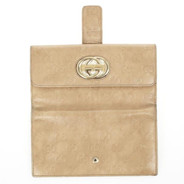 Gucci Beige Guccissima Continental Wallet