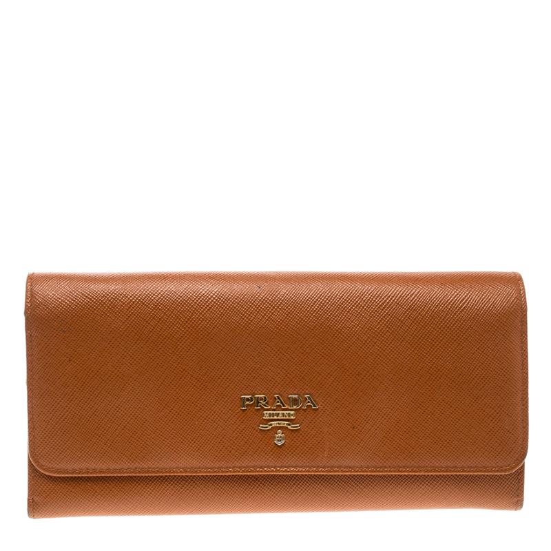 9156d5161bca ... switzerland prada orange saffiano lux leather continental wallet.  nextprev. prevnext be5ca e2769