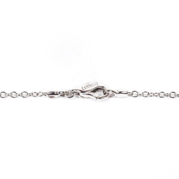 Annamaria Camilli Black Rose Diamond White Gold Necklace