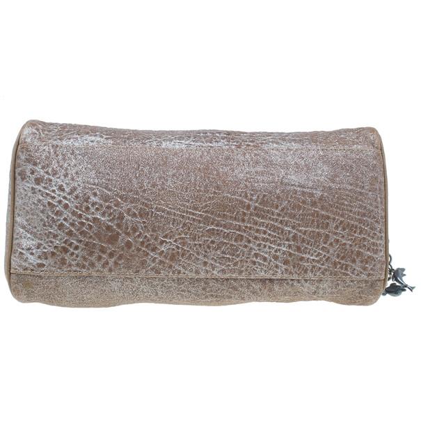 Fendi Metallic Brown Leather Du Jour Tote