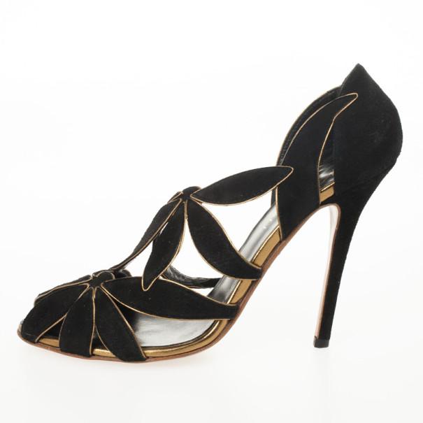 Giuseppe Zanotti Vionnet Black Suede Pumps Size 38.5
