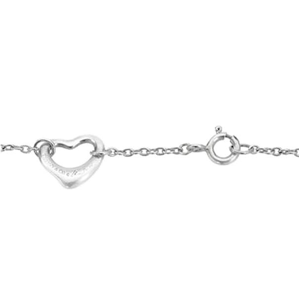 Tiffany & Co. Elsa Peretti Open Heart Silver Bracelet