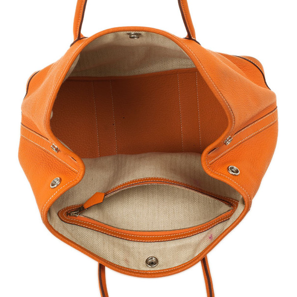 Hermes Canvas Leather Garden Party TPM Tote Bag