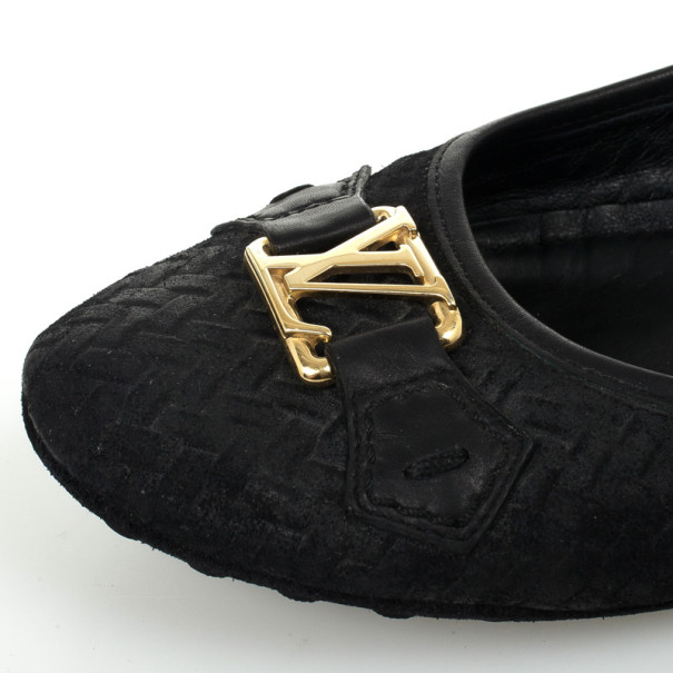 Louis Vuitton Suede Oxford Ballerina Flats Size 40